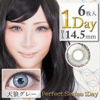 【DOLCE Perfect 1day/ドルチェパーフェクトワンデー】1箱6枚 (1日使い捨て)[天狼グレー]