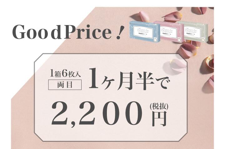 大屋夏南イメージモデル エルージュ -eRouge|Goodprice! 1箱6枚入 両目 1ヶ月半で2,200円(税込)
