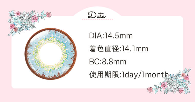Etia.coeur-エティア クール|DIA:14.5mm/着色直径:14.1mm/BC:8.8mm/使用期限:1day/1month