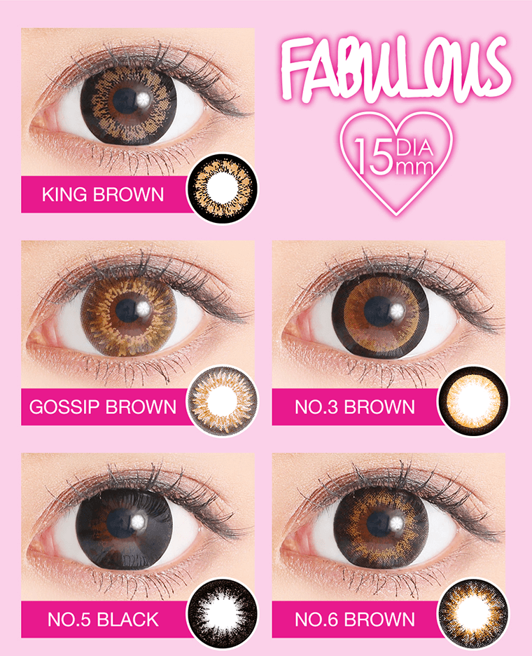 KINGBROWN GOSSIPBROWN NO.3BROWN NO.5BLACK NO.6BROWN