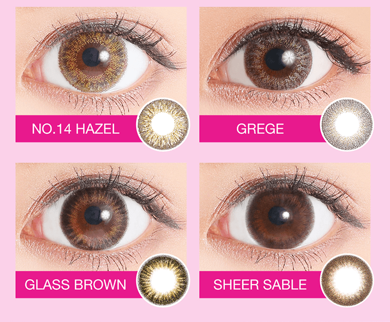 NO.14HAZEL GREGE GLASSBROWN SHEERSABLE